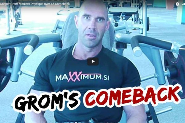 Gasper Grom Masters Physique over 45 Comeback