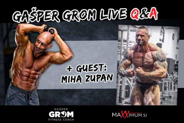 Q&A with Gašper Grom + guest Slovenian PRO Bodybuilder Miha Zupan